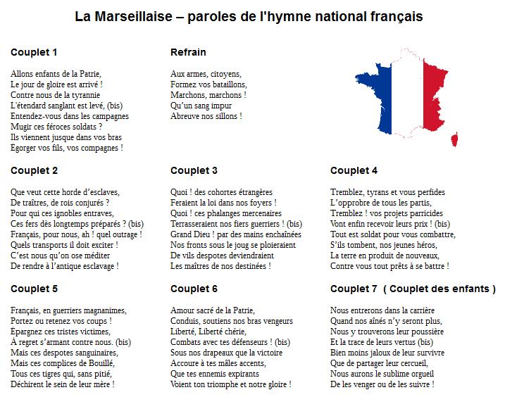 la marseillaise - dates clés