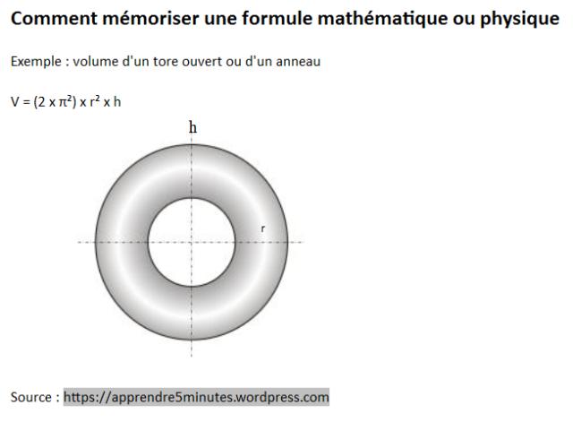 comment mémoriser une formule mathématique ou physique