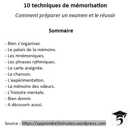 10 techniques de mémorisation pour préparer un examen