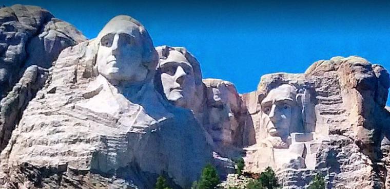Les 4 présidents américains du mont Rushmore