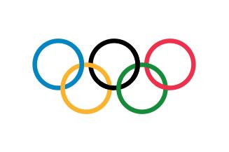 Drapeau olympique.