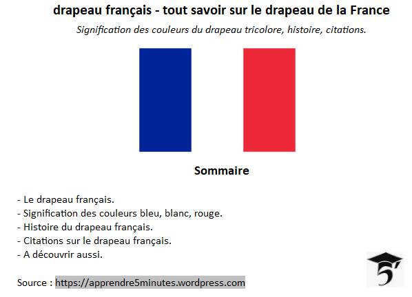 Drapeau français - sommaire.