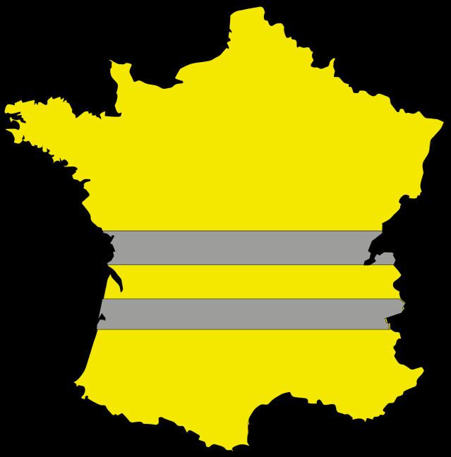Carte de France des Gilets Jaunes.