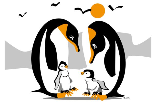 Le Manchot empereur, espèce endémique de l'Antarctique, est en voie de disparition.