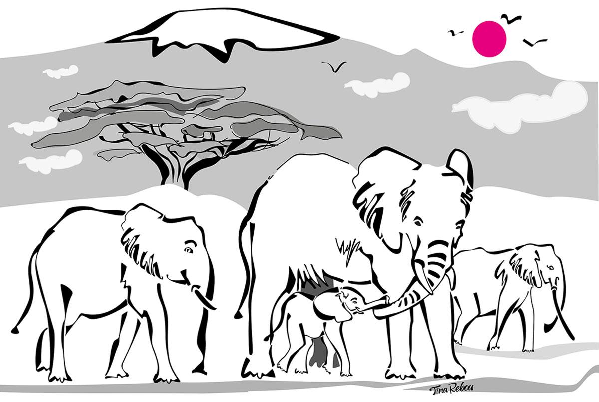 L'éléphant d'Afrique,espèce menacée.