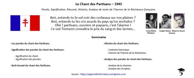 Le Chant des Partisans - 1943.