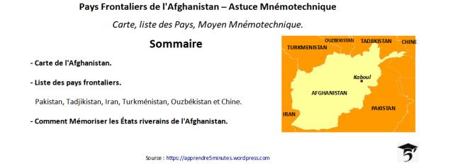Pays Frontaliers de l'Afghanistan – Astuce Mnémotechnique.